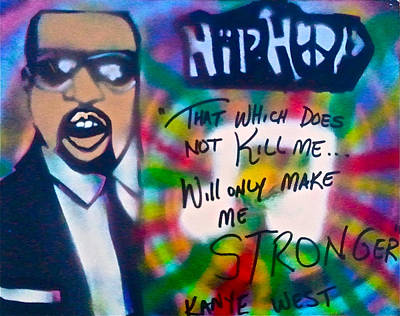 Free Speech Painting - Kanye West Stronger by Tony B Conscious