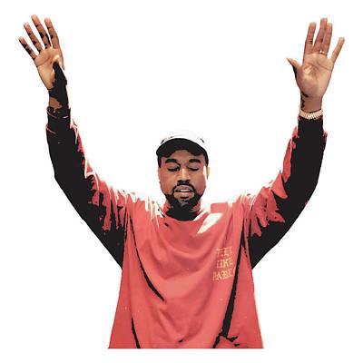 Kanye West Art Print