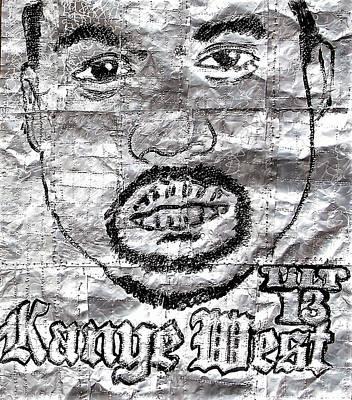 Mixed Media - Kanye by William Tilton