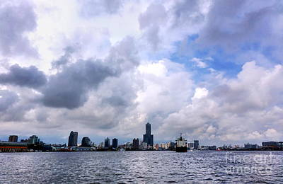 Photograph - Kaohsiung City And Port With Dramatic Sky by Yali Shi