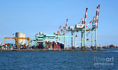 Photograph - Kaohsiung Container Port In Taiwan by Yali Shi