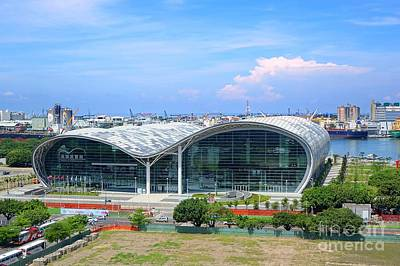 Photograph - Kaohsiung Exhibition Center And Port by Yali Shi