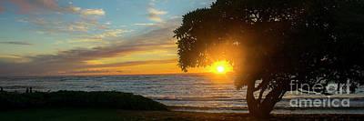 Photograph - Kapaa Sunrise 6102 Pano by Chuck Flewelling