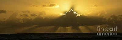 Photograph - Kapaa Sunrise 6708 Pano by Chuck Flewelling