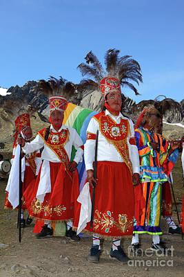 Photograph - Kapac Chunchu Dancers At Qoyllur Riti Festival Peru by James Brunker