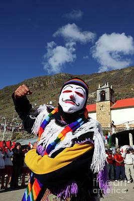 Photograph - Kapac Qolla Dancer Front Of Lord Of Qoyllur Riti Sanctuary Peru by James Brunker