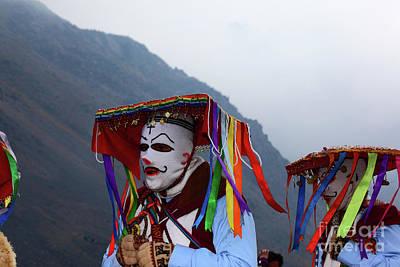 Photograph - Kapac Qolla Dancers At Qoyllur Riti Festival Peru by James Brunker