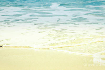 Kapalua Beach Dream Colours Sparkling Golden Sand Seafoam Maui Art Print by Sharon Mau