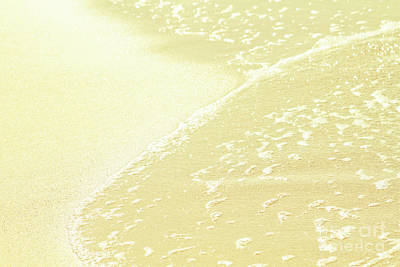 Photograph - Kapalua Beach Sparkling Golden Sand And Seafoam Maui Hawaii by Sharon Mau