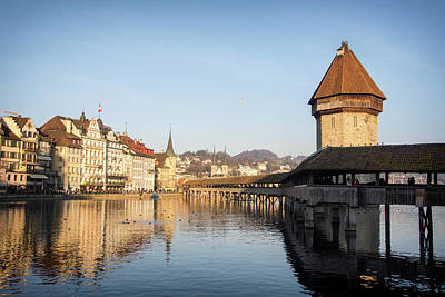 Photograph - Kapellbrucke, Lucerne by Jeremy Voisey