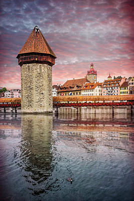 Photograph - Kapellbrucke Lucerne Switzerland  by Carol Japp