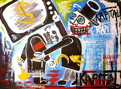 Theft Painting - Kapital V2 by Stuart Bracewell