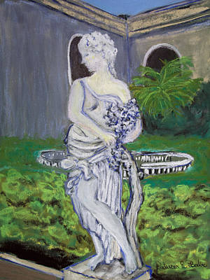 Pastel - Kapok Gardens Statue by Patricia Beebe