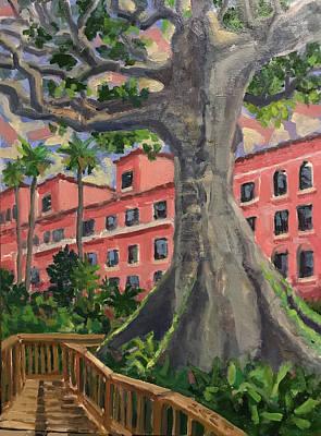 Painting - Kapok Tree At Boca Raton Resort by Ralph Papa