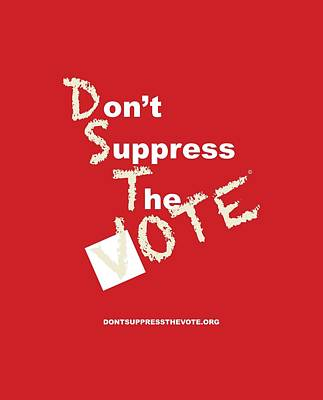Voters Digital Art - Kappa / Delta Don't Suppress The Vote by Shirley Whitaker