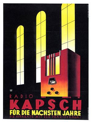 Mixed Media - Kapsch Radio - German - Vintage Advertising Poster by Studio Grafiikka