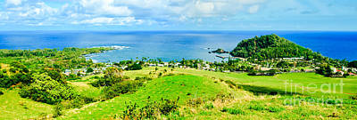 Photograph - Kapueokahi Heavenly Hana Maui Hawaii Panoramic View From Fagans Cross by Sharon Mau