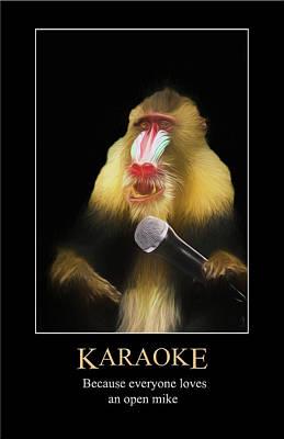 Digital Art - Karaoke by John Haldane