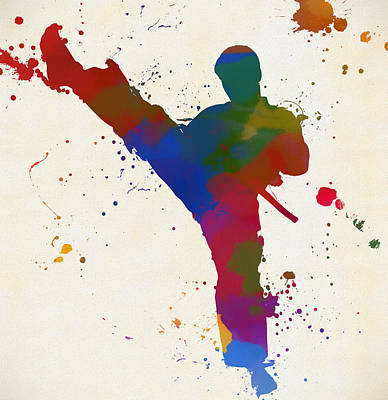 Painting - Karate Kick by Dan Sproul