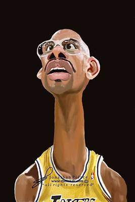La Lakers Painting - Kareem Abdul Jabar by Jonathan Pierce