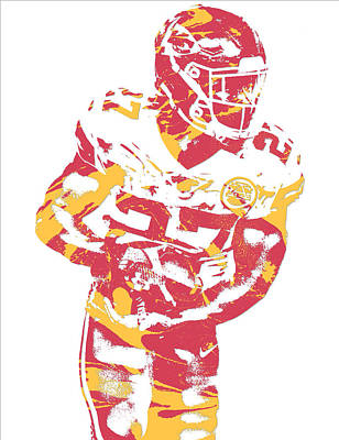 Mixed Media - Kareem Hunt Kansas City Chiefs Pixel Art 11 by Joe Hamilton