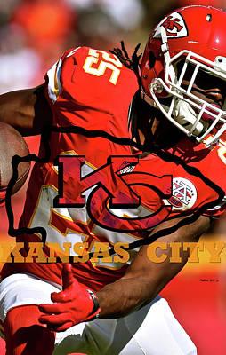 Kareem Hunt, Kansas City Chiefs Art Print