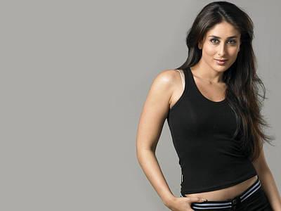 Kareena Kapoor Digital Art - Kareena Kapoor Black Transparent by Emma Brown