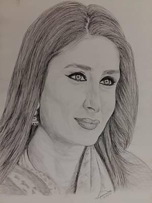 Kareena Kapoor Khan Art Print by Lupamudra Dutta
