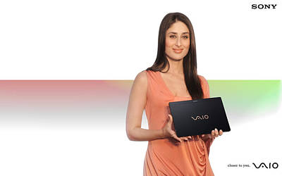 Kareena Kapoor Digital Art - Kareena Kapoor Sony Vaio by Emma Brown