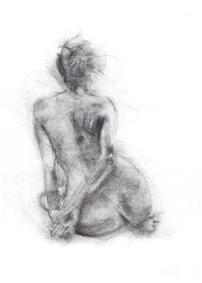 Abstract Movement Drawing - Karen - Sitting by Christopher Williams