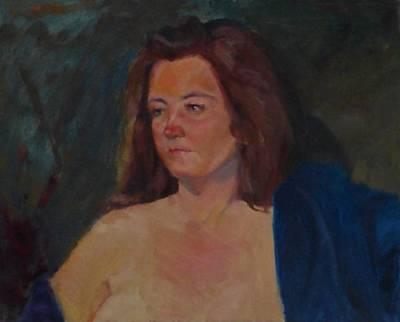 Painting - Karen In Blue Robe by Irena Jablonski