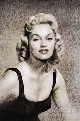 Karen Steele, Vintage Actress Art Print
