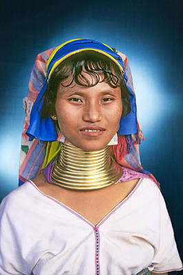 Karen Woman, Golden Triangle, Thailand Art Print