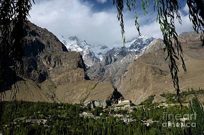 Photograph - Karimabad Town And Baltit Fort With Mountains In Hunza Valley Gilgit Baltistan North Pakistan by Imran Ahmed