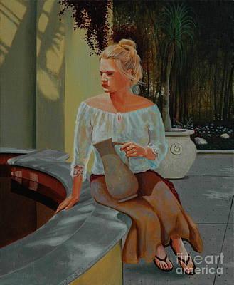 Painting - Karisa At Koi Pond by Michael Nowak