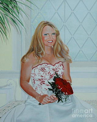 Painting - Karisa's Wedding Day by Michael Nowak