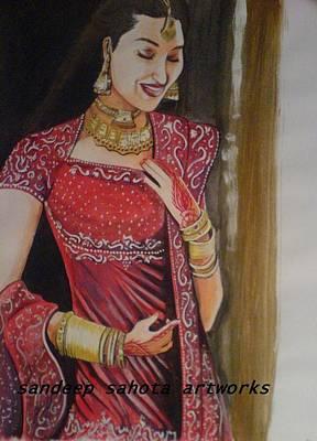 Goldblum Drawing - Karisma Kapoor by Sandeep Kumar Sahota