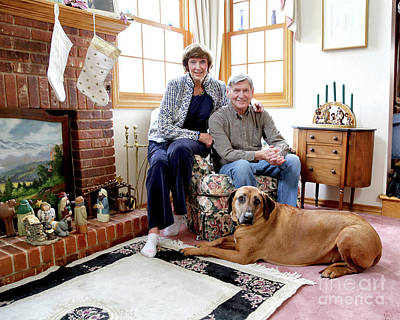 Photograph - Karl And Jennie At Christmas by James Steele