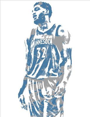 Karl Mixed Media - Karl Anthony Towns Minnesota Timberwolves Pixel Art 6 by Joe Hamilton