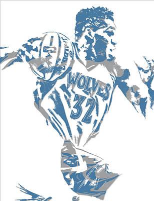 Karl Mixed Media - Karl Anthony Towns Minnesota Timberwolves Pixel Art 8 by Joe Hamilton