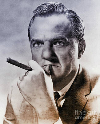 1950s Movies Painting - Karl Malden - Actor by Ian Gledhill