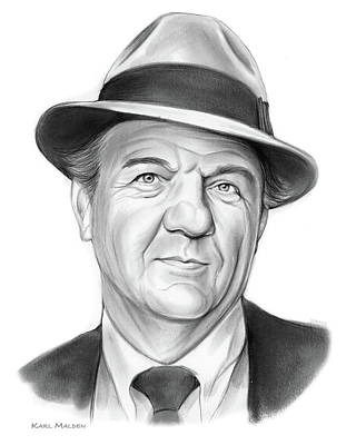 Drawings Rights Managed Images - Karl Malden Royalty-Free Image by Greg Joens