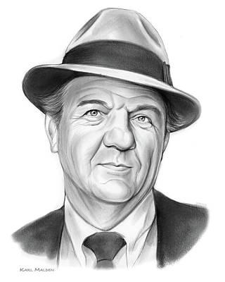 Drawings - Karl Malden by Greg Joens