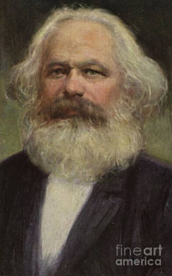 Theory Painting - Karl Marx  by European School