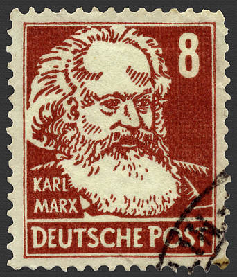 Photograph - Karl Marx German Postage Stamp by Phil Cardamone