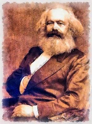 Dracula Painting - Karl Marx by John Springfield