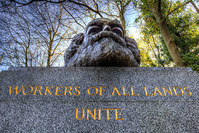 Karl Marx Memorial Statue Art Print