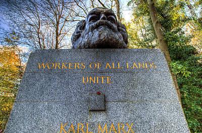 Karl Marx Photograph - Karl Marx Memorial Statue Highgate Cemetery  by David Pyatt