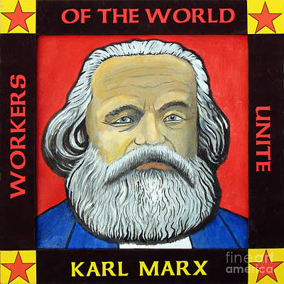 Marx Painting - Karl Marx by Paul Helm