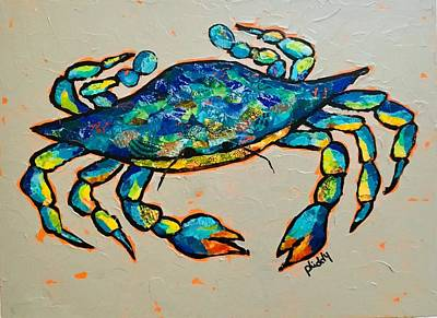 Painting - Karl The Crab by Phiddy Webb